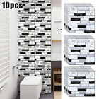 30x 30*30cm Mosaic Stick Wall Tile Stickers 3d Self Adhesive Waterproof Bathroom