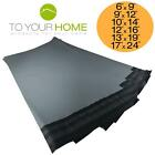 250 Grey Mailing Bags 50% Recycled Plastic Self Seal Strong Postal Poly