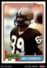 1981 Topps #428 Wes Chandler Saints NM/MT $1.55 USD on eBay