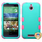 For HTC Desire 510 TUFF ARMOR CASE Rubberized Hard Cover
