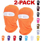 2-PACK Full Face Mask Outdoor Ski Motorcycle Cycling Balaclava Lycra Neck Thin