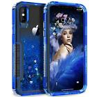 For iPhone XR Xs Max 6 78 Plus X Hybrid Heavy Duty Defender Quicksand Clear Case