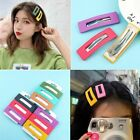 3Pcs Women Hair Accessories Simple Candy Color Square Hairpin Girl Hair Clip Set