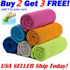 Instant Ice Cooling Towel for Sports Workout Fitness Gym Yoga Hiking Pilates USA image