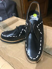 VLV AWESOME ROCKABILLY NEW BLACK LEATHER GIBSON STYLE SHOES  SIZE 6 *LAST PAIR*