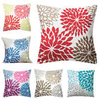 Linen Flower Print Throw Pillow Case Waist Cushion Cover Home Car Decor Code