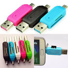 2 in 1 USB OTG Card Reader Micro USB TF SD Card Reader for PC Phone Sanwood