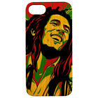 For Apple iPhone XR/XS/X/8/7 Plus Real Wood Wooden Fit Case Cover- Bob Marley