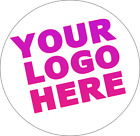 Personalised Circle Round Logo Business Style Stickers UK SELLER
