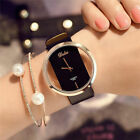 Fashion Ladies Women Classic Casual Quartz Watch Leather Strap Wrist Watches New image