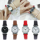 Fashion Women Casual Quartz Leather Band Watch Small Dial Analog Wrist Watches image