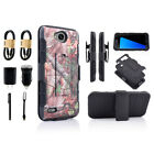 Bundle +For LG X Power 2 Holster Protective Shockproof Phone Case with Kickstand