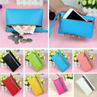 Women Wallet Leather Small Change Purse Zipper Money Bags Key Holder Coin Purse image