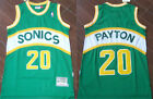 New Men's Seattle Supersonics #20 Gary Payton Basketball jersey Mesh Green on eBay