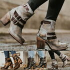 Women Fashion Boots High Heels Shoes Buckle Shoes Short Boots Leather Ankle Boot