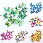 Online Home Decoration Shopping DIY Room 12Pcs 3D Stickers Butterfly PVC Home Wall Decoration Kid Decor Decal