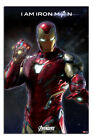 Laminated Avengers End Game I Am Iron Man Poster Official 24 x 36 Inches
