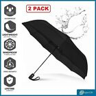 2 Pack High Quality Automatic Umbrella Windproof Men Woman Large Golf Umbrellas