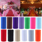 Roll Of Organza Soft Tulle Sheer Fabric Wedding Table Runner Chair Bow Decor #w