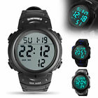 Men's LED Digital Large Screen Watch Stylish Sports Waterproof Wristwatch NEW