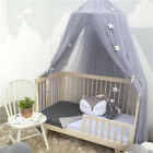 6 Colors Kids Bed Canopy Hanging Mosquito Net Crib Castle Tent Mosquito Net image