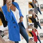 Fashion Women Coat Long Sleeve Turn-Down Collar Warm Winter Wool Jackets Outwear