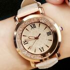 Women Luxury Analog Quartz Rhinestone Crystal Round Dial Wrist Watch Bracelet image