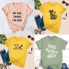 Animal Lover T-shirt Funny Graphic Shirt Kawaii Kitty Tee Tops Girl Summer Gift