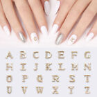 Metal 3D Nail Art Decoration Capital English Letters Shaped Flat Back 1 Pc/Bag