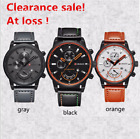 Luxury Curren Casual Men's Date Quartz Analog Leather Strap Men's Wrist Watch image