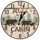 Bear Themed Cabin Welcome Clock from KDL