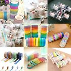 5/10Rolls Floral DIY Washi Tape Adhesive Sticker Paper Masking Tape Crafts Decor $1.78 USD on eBay
