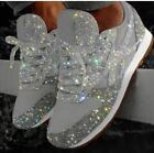 New Women's Sequin Glitter Lace Up Fashion Shoes Comfort Athletic Sneakers