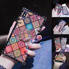 Bohemian Style Smartphone Protect Case with Ring Cell Phone Accessories Covers