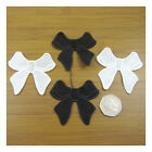 PAIR OF GUIPURE LACE BOW APPLIQUES 63 x 56mm *2 COLOURS* MOTIF DECORATIVE DANCE