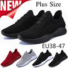 MEN'S SHOCK ABSORBING RUNNING TRAINERS CASUAL LACE GYM WALKING SPORTS SHOES SIZE