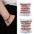 Turkish Lucky Evil Eye Bracelets Pendant Women Handmade Braided Red Rope Jewelry
