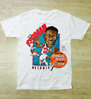 DENNIS RODMAN DETROIT 1989-90'S DEFENSIVE PLAYER OF THE YEAR T-SHIRT S-2XL G221 image