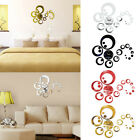 Home Design Modern Wall Clock 3D Mirror Sticker Unique Number Watch DIY Decor