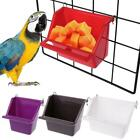 Plastic Parrot Bird Feeder Bowl Water Drinking Device to Bird Pigeons