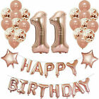 "16"" Rose Gold Happy Birthday 16/18/21st/30/40/50/60 Decoration Banner Balloons*b"