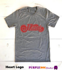Heart Band Logo Rock Band Legend Men's Gray T-Shirt Size XS-4XL