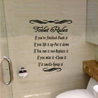 Toilet Washroom Rules Quote Wall Stickers Bathroom Removable Decals Home Decor