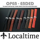 Open Ended Watch Strap Fixed Lugs Smooth Calf Buffalo Grain Leather 12 - 20mm