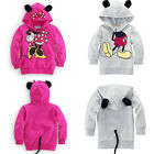 Toddler Kids Baby Girl Boys Mickey Minnie Hooded Sweatshirt Coat Jacket Outwear