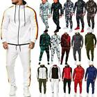 Mens Tracksuit Set Hoodies Sweatshirts Hooded Sweater Coats Joggers Pants Suit