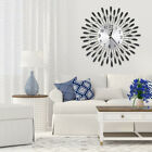 Large Metal Crystal Sun Art Wall Clock For Living Room Office Home Decoration Uk