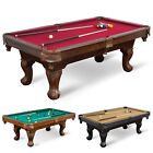 "87"" Pool Table Billiard Set Light Cues Balls Chalk Triangle Brush-LIMITED STOCKS $569.77 USD on eBay"