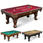 "87"" Pool Table Billiard Set Light Cues Balls Chalk Triangle Brush-LIMITED STOCKS $479.99 USD on eBay"