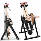Pro Folding Inversion Table Ankle Back Pain Relief Therapy Fitness Multifunction image